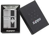 Zippo Armor Lighter With Swarovski Crystal & Black Enamel - Made In USA