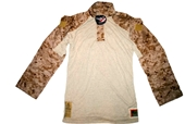 USMC NOMEX FIRE RESISTANT DESERT MARPAT FROG COMBAT ENSEMBLE SHIRT - MEDIUM LONG