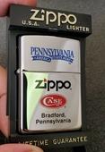 New Vintage 1996 HPC Zippo Lighter Pennsylvania Zippo Case Museum RARE - Made In USA